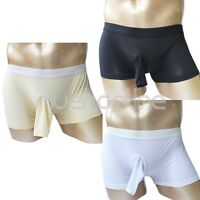 Sexy Men Stretch Underwear Sheer Briefs Boxer Open Penis Sheath Thong Panties
