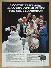 1985 Sony Handycam 8mm Video Camcorder vintage print Ad