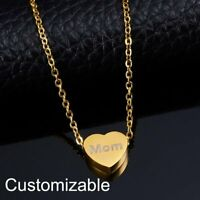 Personalized Stainless Steel Engrave Heart Name Custom Necklace Pendant Gift Hot
