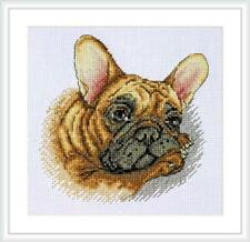 "French Bulldog Counted Cross Stitch Kit Dog Merejka 6 x 6"" 14 Count"