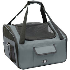More details for me & my pets grey dog/puppy/cat car travel/safety seat carry crate/carrier bag
