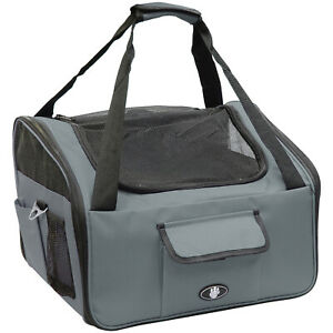 ME & MY PETS GREY DOG/PUPPY/CAT CAR TRAVEL/SAFETY SEAT CARRY CRATE/CARRIER BAG