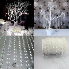 33FT Crystal Bead Curtain Chandelier Wedding Hanging DIY Decoration Acrylic