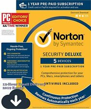 Norton Security Deluxe 2019 5 Devices 1 Year Subscription - {12-Hour Delivery}