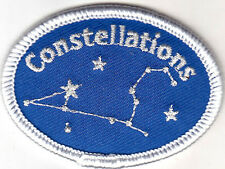 """""""CONSTELLATIONS"""" - STARS - MOON - ASTROLOGY - Iron On Embroidered Applique Patch"""