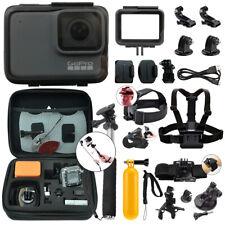 GoPro HERO7 Silver 10 MP Waterproof 4K Camera Camcorder + Complete Action Bundle