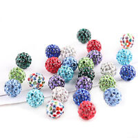 20Pcs DIY Rhinestone Beads Jewelry Czech Pave Clay Round Disco Ball Spacer Bead