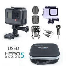 Used GOPRO HERO5 BLACK 12 MP WATERPROOF 4K WiFi 501 CAMERA + Waterproof case