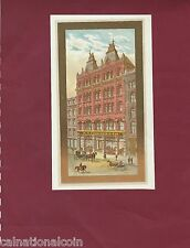 H.S. Crocker Stationary Store San Francisco, CA  Color Lithograph  185mm x 100mm