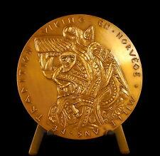 Médaille Pavillon de Marsan Paris Tradition viking en Norvège 1954 Norway medal