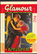 Advertising Postcard - 1938 Magazine Cover - Glamour Love Story Weekly  BT773