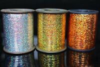 1 Spool 7000m 0.3mm Flashabou Holographic Tinsel Laser Flat Mylar Fly Tying