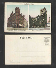 190x ODD FELLOWS BUILDING NORTH CONG NEW BEDFORD MA UDB UNDIVIDED BACK POSTCARD
