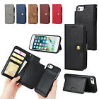 NEW Premium Genuine Leather Multi-function Purse Wallet Case Cover iPhone 7 Plus