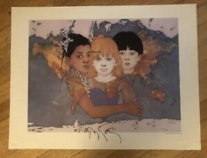 "Ramon Santiago ""Diversity "" Hand Signed Print 26 X 20"