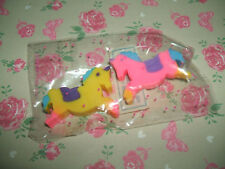 Rare Vintage 1980s Cute Sealed Pony erasers rubbers gommes gommine