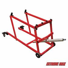 Extreme Max Snow Pro Snowmobile Lift Stand with Swivel Casters Hoist 1000 LB Cap
