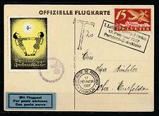 Switzerland - 1923 Airmail -  Mi. 179 Special flight illustrated card / Due!