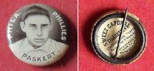 1910 Sweet Caporal Pins Dode Paskert Philidelphia Phillies