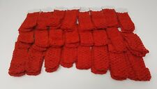Wholesale 24 pcs Girls Baby Crochet Headband With 1.5 inch Acrylic (Red).