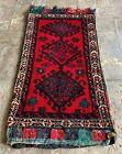Hand Woven Made Vintage Afghan Salt Bag / Pillow Cover Area Rug 3 x 2 Ft (22091)