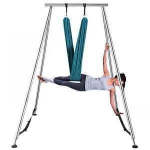 Aerial Yoga Hammock Swing Stand Anti-Gravity Fitness Indoor w/6m Aerial Hommock