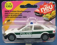 SIKU 1352 - BMW 320i POLIZEI-Streifenwagen - reinweiß/minzgrün -Neu - Modellauto