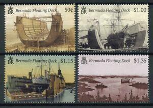 Bermuda Ships Stamps 2019 MNH Floating Dock Maritime Nautical Boats 4v Set