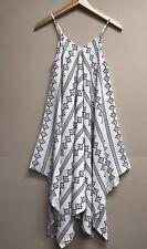 New Women's  Blu Pepper Print Sleeveless Handkerchief Dress size Large boho