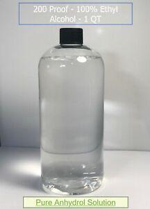 Denatured Ethyl Alcohol Ethanol 200 Proof - 100% - 1 Quart (32oz) Anhydrol