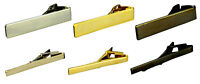 Men's 5CM Thick Thin Tie Clip Bar Suit Clasp Stainless Steel Silver Gold Grey