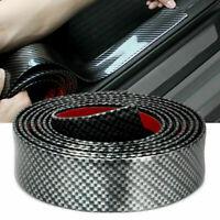 1m Car Carbon Fiber Strip Edge Guard Bumper Door Sill Protector Trim Accessories