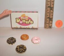 FASHION DOLL MINIATURE RE-MENT 1/6 RETIRED FANCY DONUTS & BOX FOOD ACCESSORY #3