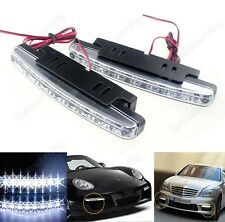 8 LED Fog Daytime Running Light Car Indicator Side Bumper Driving Lamp DRL White