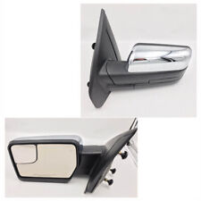 For 07-14 Ford F150 MIRROR CHROME MANUAL W/O REFLECTOR W/O SIGNAL