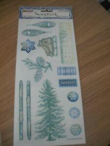 Sandylion Scrapbook Stickers - Winter  - Frosty  - Christmas - NEW