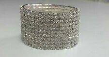 JOB LOT 10 Rows Brand New Diamonte Elegant Elasticated Bracelet Uk Seller
