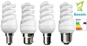 Kosnic Mini Spiral Quick Start Energy Saving CFL Compact Fluorescent Bulbs