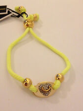 Juicy Couture Heart ID Friendship Bracelet Neon Yellow w/ rhinestones $29.99