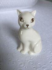Lenox Porcelain 3 1/4� Sitting Cat Figurine With Gold Detailing