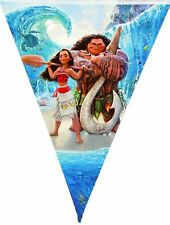 MOANA BANNER BUNTING 10 FLAG PENNANT BIRTHDAY PARTY LOLLY LOOT DECORATION