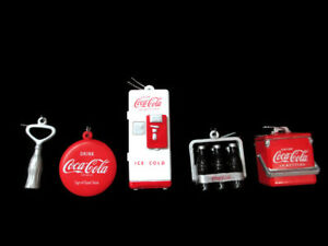 Coca-Cola Kurt Adler 5 Piece Set Holiday Christmas Ornament Decoration