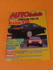 AUTO HEBDO MAGAZINE AUGUST 1986 PORCHE 928 S4 CITROEN CX 25 GTi TURBO 2 VW