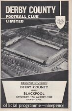 DERBY COUNTY v BLACKPOOL ~ 17 AUGUST 1968