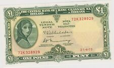More details for p64c central bank of ireland 1975 £1 note in mint condition