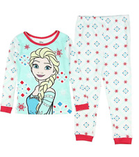 Disney Girls' Frozen Elsa Red Snowflake Pajama Set