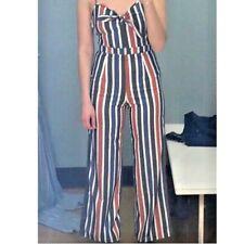 Romeo + Juliet Couture Striped Tie Front Jumpsuit SIZE M NWT  $140