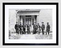 VINTAGE GROUP PORTRAIT SUMNER CIVIL WAR USA BLACK FRAMED ART PRINT B12X3480