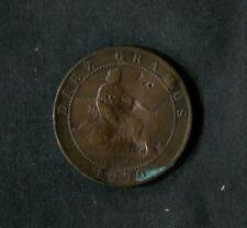 España 1870: moneda de diez centimos