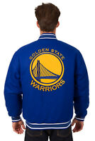 NBA GOLDEN STATE WARRIORS JH DESIGN REVERSIBLE WOOL POLY TWILL JACKET 103 BSC7